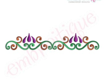 Carnie Border Double- Instant Download -Digital Machine Embroidery Design