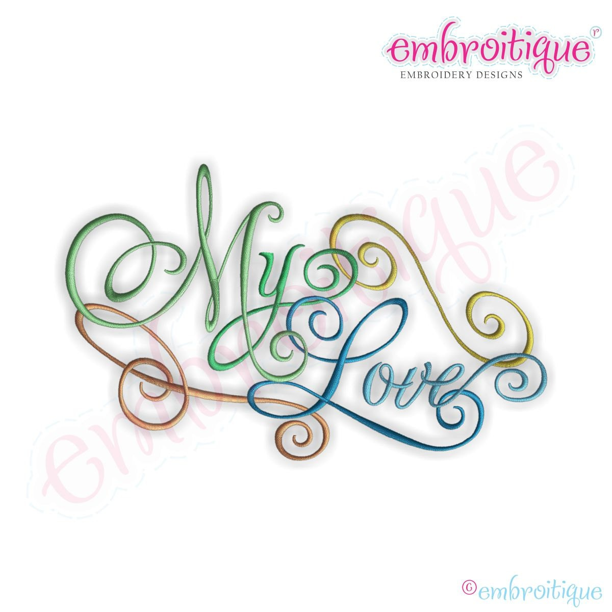 My Love Calligraphy Script Instant Email Delivery Download
