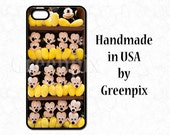 Mickey Mouse iPhone 6 6S case, Disney phone case, Disney galaxy S5 cover, yellow, black, stuffed plush animal toy, greenpix photography