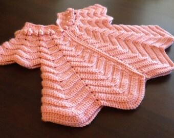 Crochet Chevron Baby Dress Pattern : Chevron baby dress Etsy