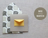 Mix and match Gift Enclosure Card and Envelope - Pick any 5 colors or patterns