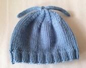 Light Blue Cashmere Blend Baby Boy Newborn Hat
