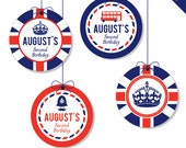 """Union Jack Party - Personalized DIY printable 2"""" party circles"""