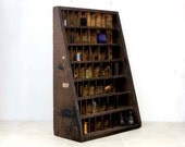 Industrial Display Cabinet / Printer's Letter Cabinet  / Divided Box