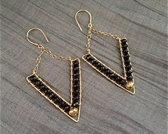 Ayita Arrowhead Onyx Earrings