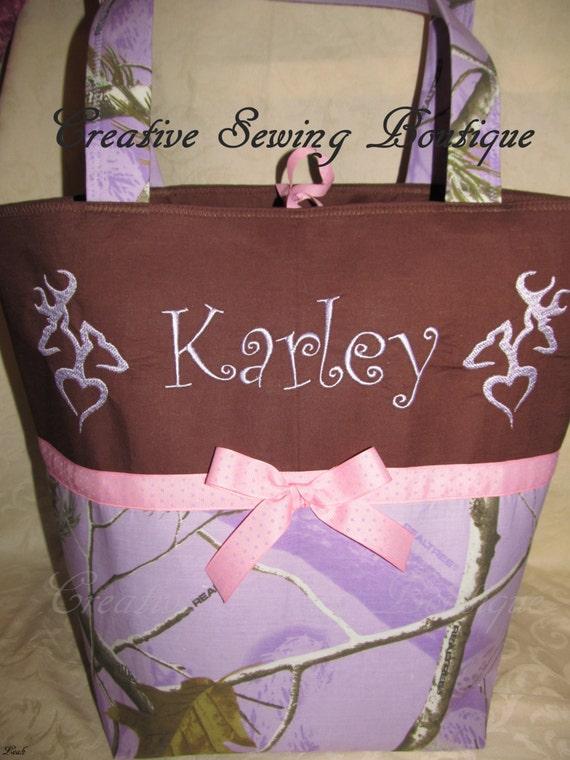 Purple camo diaper bag lavender purple pink camo camouflage heart buck doe deer diaper bag you choose name