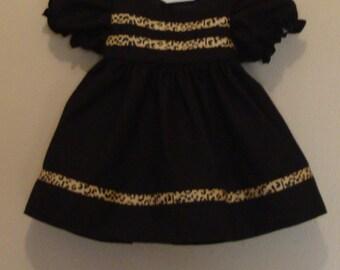 Short sleeve black dress for American Girl doll (18 inch)