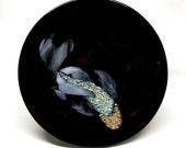 Fused Koi Plate Black