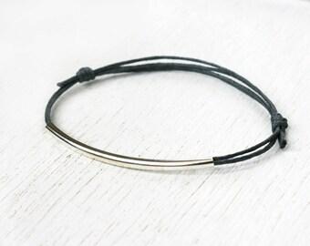 Long Tube Bead Bracelet / Long Tube Bead Anklet (many colors to choose)