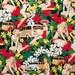 "ALOHA Girls, PIN UP Girl Hawaiian 50's Pattern Fabric, Cotton Fabric , 36"" X 44"", 1 Yard, New, Rare"