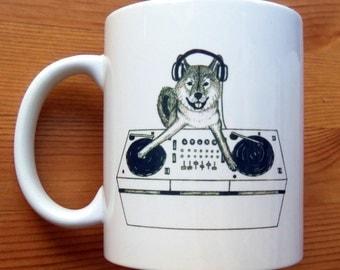 Shiba Inu Dog DJ-ing Mug