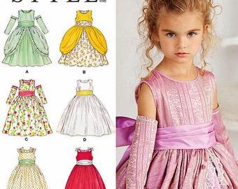 Flower Girl Dress Pattern, Childs' Princess Dress Pattern, Little Girls' Formal Dress Pattern, Sz 4 to 8, Simplicity Sewing Pattern 1508