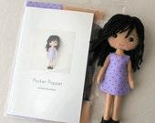Pocket Poppet Pattern Kit - Medium Skin, Black Hair
