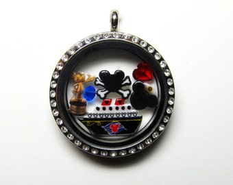 Disney Cruise Line Origami Inspired 30mm Locket with Charms
