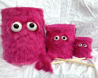 Kids Drum Set - Furry Pink Handmade Durable Eco-Friendly Fun Coolest Marching Drums Instruments For Kids