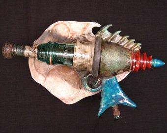 Blish Mesotron - Raku Ray Gun Ceramic Sculpture