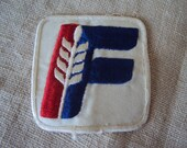 Large Vintage 70s Letter  F  Possibly Fosters Beer Uniform Sew On Patch