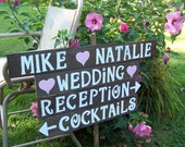 4 rustic wedding signs . wood signs / beach wedding sign / custom signs / personalized signs / wedding decorations / wedding signage / signs
