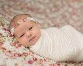 newborn rosette halo headband photo prop READY TO SHIP