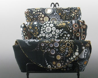 eyeglass case in Stone - Amelia Caruso Effervescence- Made to order