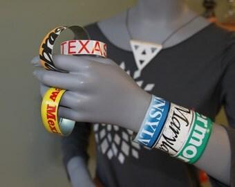 License Plate Cuff Bracelet