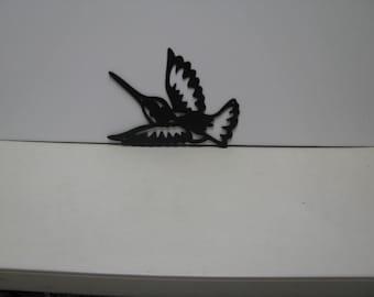 Hummingbird 008 Metal Wall Yard Art Silhouette