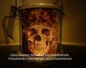 Halloween Lantern Luminary Skeletons Skull Day of the Dead Lantern