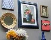 Wall art - Bohemian Blue - vintage  wall decor