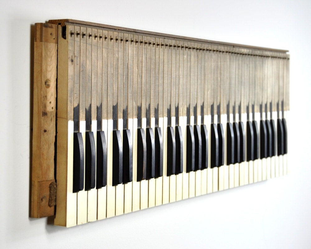 Vintage Piano Keys Wall Hanging Wall Decor Musical Wall