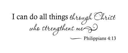 I can do all things through christ who strengthens me vinyl for Philippians 4 13 coloring page