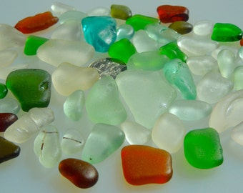 Sea Glass Beach Glass  of Hawaii beaches  for jewelry SALE 30 dollars! Bulk Sea Glass! Sea Glass Bulk! Seaglass
