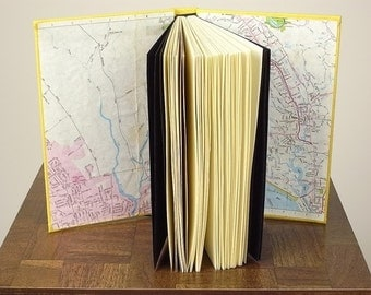 Custom Map Travel Book with Personalized Colophon