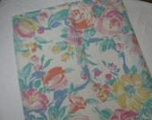 Impressionist Style Floral Pillowcase King Size Vintage