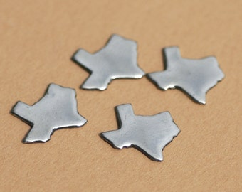 Bronze or Brass or Copper Tiny Texas State Blanks Cutout for Metalworking Stamping Texturing Blank - Jewelry Supplies - 6 pieces