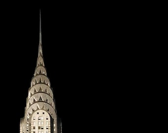 New York Print, Chrysler Building, Black, Gold, Art Deco,  New York City Print, Architecture, Travel Photography