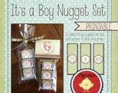 It's A Boy Nugget Set--Printable