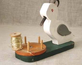 Spool Caddy , Folk Art , Folk Art Duck , Sewing Caddy , Duck , Folk Art Sewing Caddy , Folk Art Sewing , Sewing Supplies , Wooden Folk Art