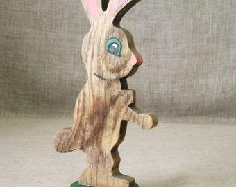 Folk Art , Easter Decor , Folk Art Animal , Folk Art Rabbit , Wooden Animal , Handmade , Vintage Folk Art , Handmade Bunny , Folk Art Bunny