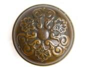 FREE SHIPPING - Vintage Antique Ornate Brass Door Knob, ET766 Single Knob