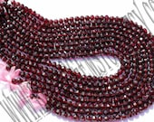 Garnet Faceted Round (Quality A)  / 36 cm / 29 to 31 Grms. / 6 to 6.5 mm  / BOG - 050