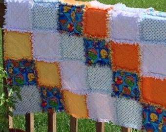 Sesame Street Baby Rag Quilt