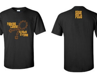 Canine Cancer T-Shirt Cancer Awareness Black Short Sleeve