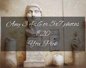 Fine Art Photography, any three 4x6, 5x7, you pick photos, Europe, travel, flowers, photography
