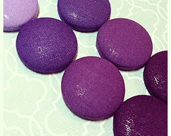 Plain Purple Hues Button Earrings