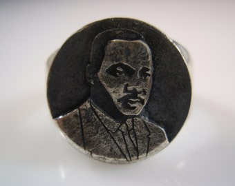 Ezi Zino 3D ring Martin Luther King African-American Civil Rights Movement 925