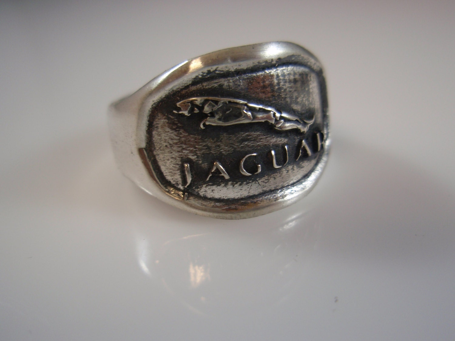 jaguar cars limited logo ring solid sterling silver 925