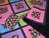 Love of Hearts Quilt with pillowcase