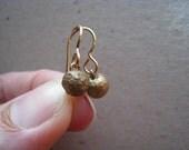Rustic Bronze Organic Drop Earrings - Bronze Earrings - Ball Earrings