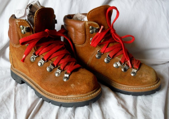 Luxury Womens Hiking Boots Red Laces Hiking Boots  Red Laces