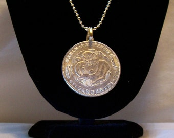 Dragon Medallion, Mens Chinese Dragon Coin Medallion, Chinese Coin